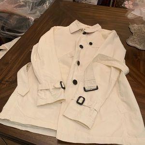 Burberry women's jacket Trench Coat white